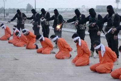 اعدام ۹ گروگان به جرم  خیانت به دین خدا+عکس