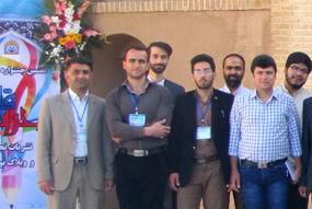 حضور حسین ناصری بانشریه آفتاب کوهدشت درمرحله کشوری محراب قلم +عکس