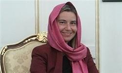 ورود باحجاب« موگرینی» به ایران/عکس