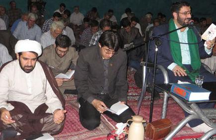 گزارش تصویری«مراسم قرائت دعای کمیل»با حضور امام جمعه کوهدشتی شهر هندودر
