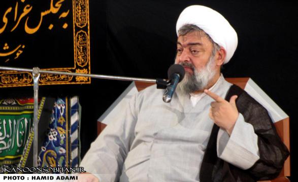 برگزاری سخنرانی حجت الاسلام ادیب یزدی در مسجد جامع کوهدشت محرم ۹۴