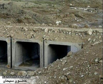 باز شدن راه ارتباطی ۵۰ روستای کوهدشت با احداث یک پل موقت +عکس