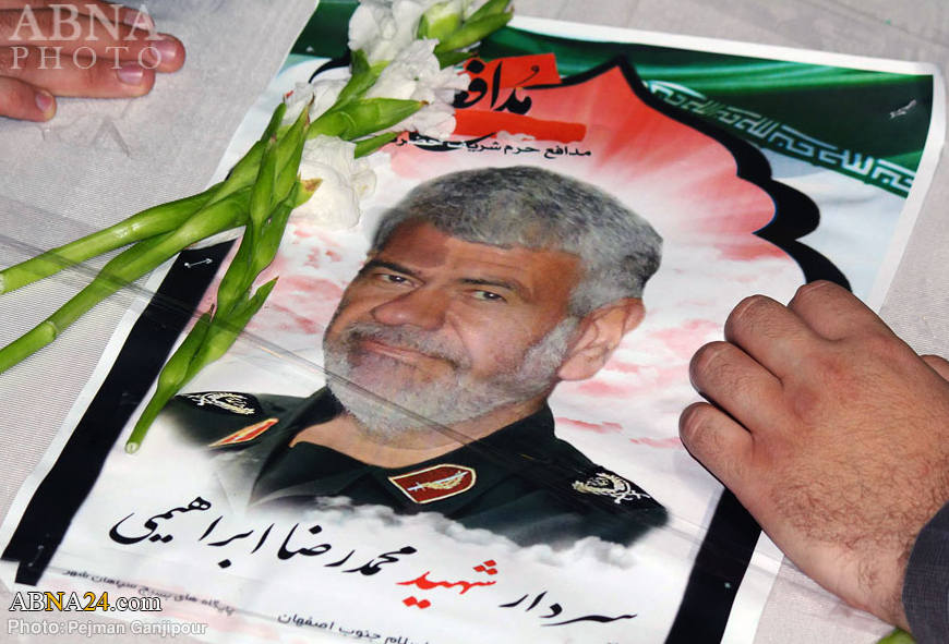 تصاویر مراسم وداع با سردار شهید محمدرضا ابراهیمی