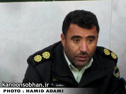 سرهنگ سلطان مراد زارع:سارق حرفه ای منازل دستگیر شد./خوشحالی مردم کوهدشت از دستگیری سارق سابقه دار