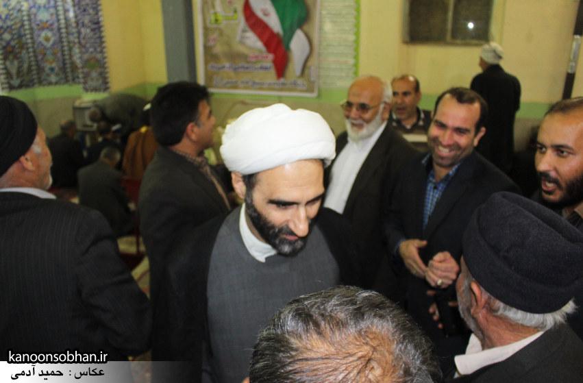 تصاویر حضور آیت الله احمد مبلغی در مسجد امام حسین (ع) کوهدشت