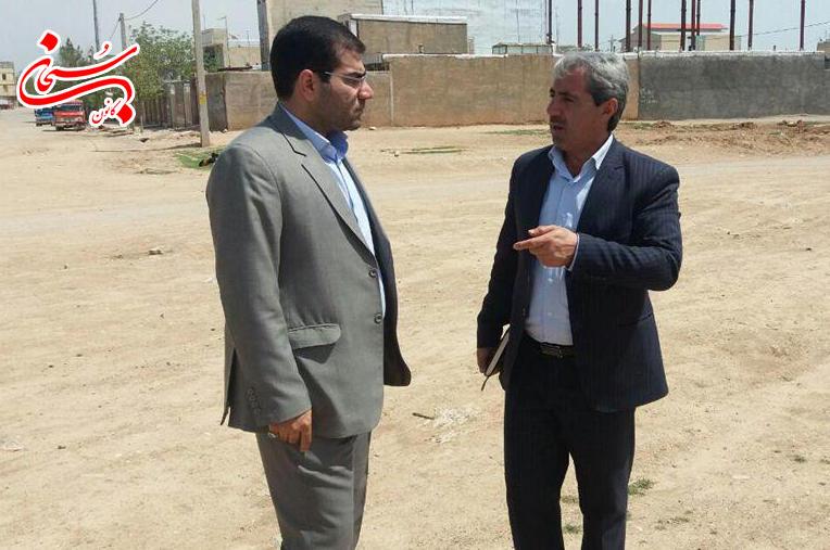 تصاویر بازدید فرماندار کوهدشت از پروژه های عمرانی سطح شهر