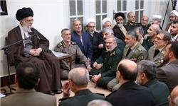 رهبر معظم انقلاب: نیروهای مسلح ایران باید حصار امن مردم باشند.