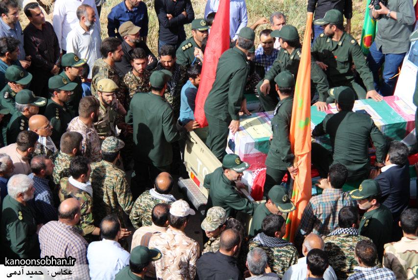 تصاویر تشییع و تدفین شهید والامقام «حاج قدرت الله عبدیان» در کوهدشت /سری اول