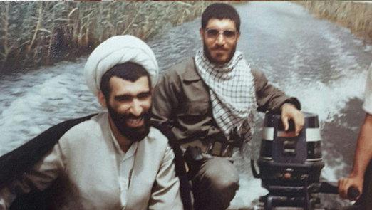 تصاویری دیده نشده از آیت الله احمد مبلغی در دوران دفاع مقدس