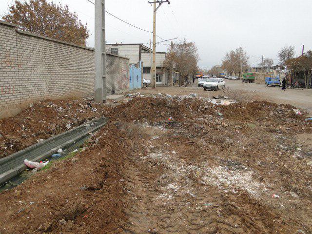وضعیت نامطلوب انتهای خیابان ۲۴ متری شهید سید مرادعلی حسینی موجب نارضایتی اهالی محل شد+تصاویر