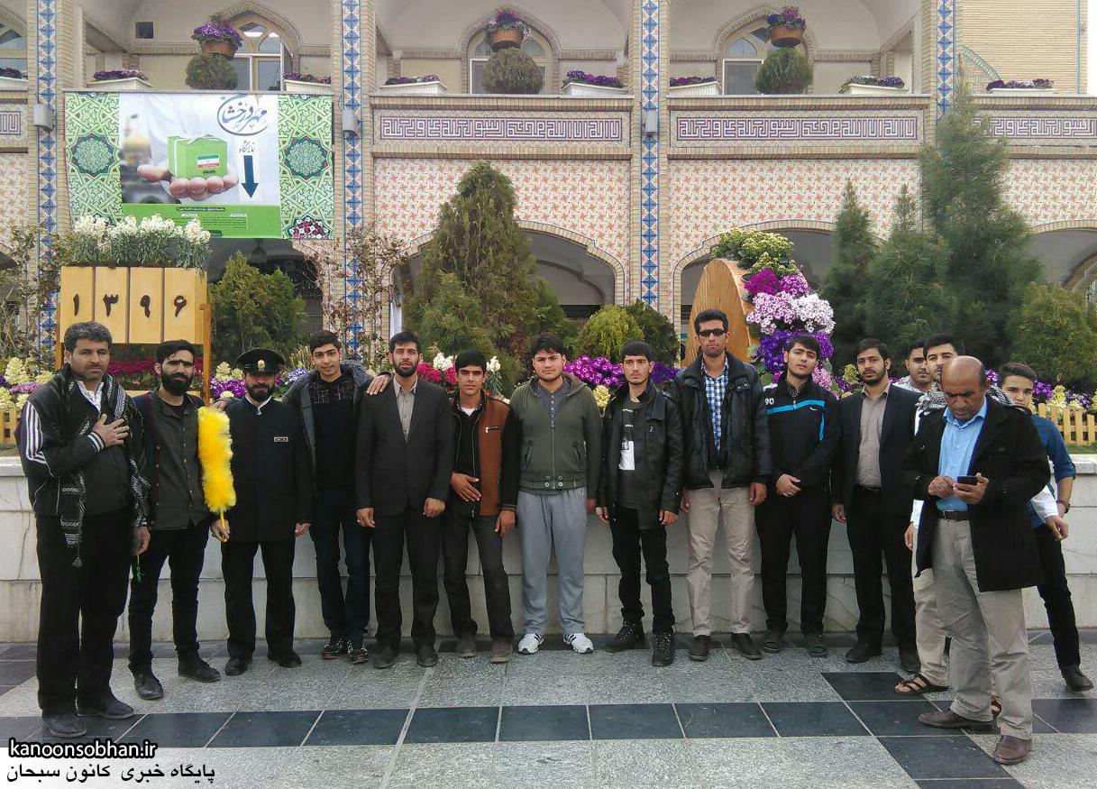 تصاویر کاروان زیارتی فعالان جبهه فرهنگی کوهدشت در حرم مطهر رضوی