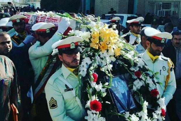 تشییع شهید استوار دوم«میثم میرزایی» در آبادان / پیکر مطهر شهید پس از تشییع به کوهدشت منتقل شد.