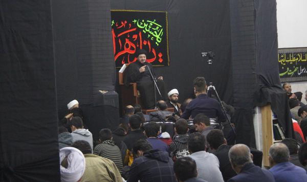 تصاویر شب اول مراسم عزاداری ایام فاطمیه ۹۸ و یادبود شهید سلیمانی در کوهدشت