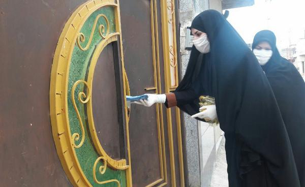 تصاویر توزیع ماسک بین محلات کوهدشت توسط هیئت لواءالرضا(ع)