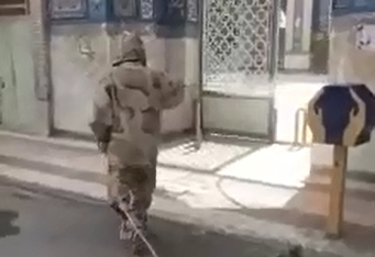 فیلم/ ضد عفونی معابرپرتردد کوهدشت توسط گردان امام حسین(ع) کوهدشت