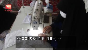 فیلم/ تولید ماسک توسط ستادمردمی شهید سپهبد حاج قاسم سلیمانی کوهدشت