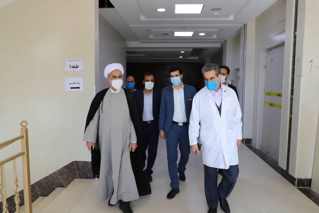 گزارش تصویری بازدید حجت الاسلام والمسلمین دکتر مبلغی از روند تکمیل فاز سوم بیمارستان شفا