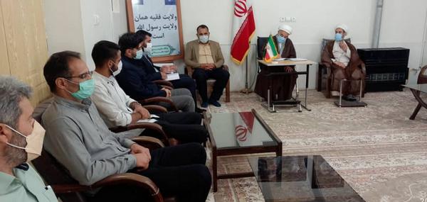 دیدار فعالان جبهه فرهنگی کوهدشت با امام جمعه شهرستان