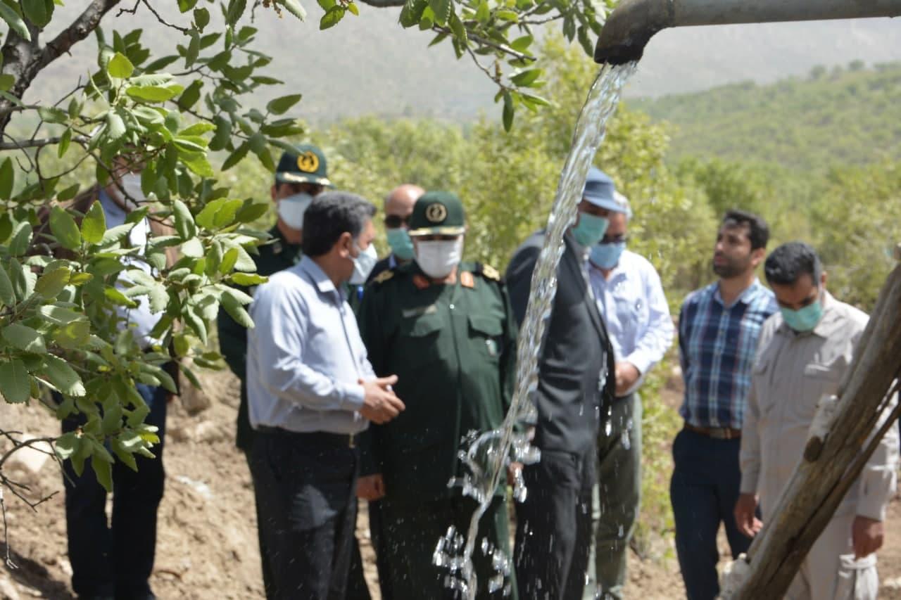 آئین افتتاح پروژه آب رسانی به روستای «سیردر سفلی» همیان از توابع دهستان کوهدشت شمالی