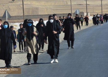 پیاده روی جاماندگان اربعین در کوهدشت