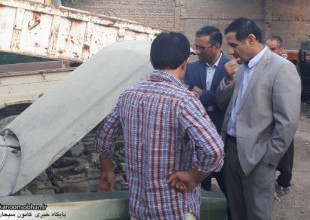 بازدید میدانی شهردار جدید کوهدشت از واحد موتوری شهرداری